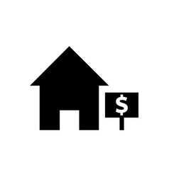 house sale icon vector image