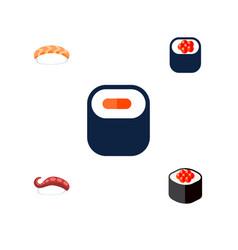 Icon flat sashimi set of maki seafood sashimi vector