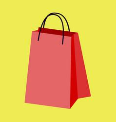 Icon in flat design fashion paper bag vector
