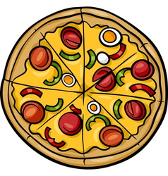 italian pizza cartoon vector image