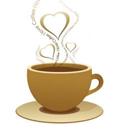 love coffee vector image