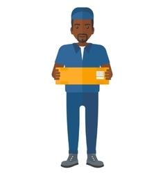 Man delivering box vector
