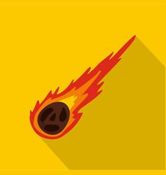 Meteorite icon flat style vector