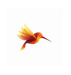 modern colorful hummingbird logo vector image