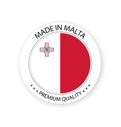 Modern made in malta label vector
