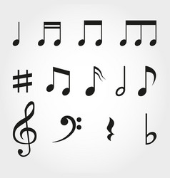 music note vintage key pictogram concert vector image