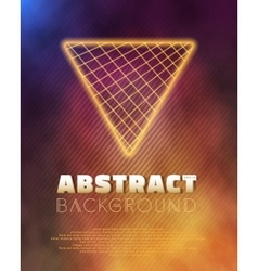 Neon poster template retro disco 80s background vector