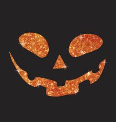 Orange glitter silhouette halloween holiday vector
