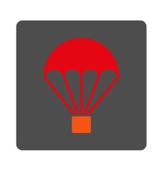 Parachute Rounded Square Button vector image