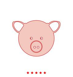 pig head it is icon vector image