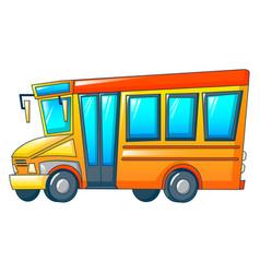 Retro kid school bus icon cartoon style vector
