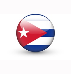 Round icon with national flag of Cuba vector image