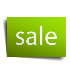 Sale square paper sign isolated on white vector