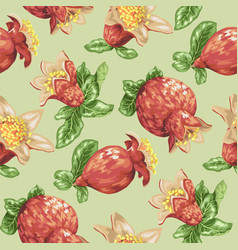 seamless pattern for textile with blooming vector image