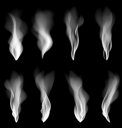 Set smoke background fire smooth wallpaper concept vector