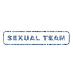 Sexual team textile stamp vector