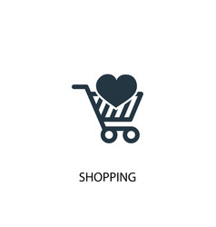 shopping icon simple element vector image
