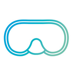 snorkel googles diving isolated icon vector image