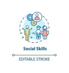 Social skills concept icon vector