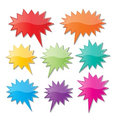 Starburst speech bubbles vector