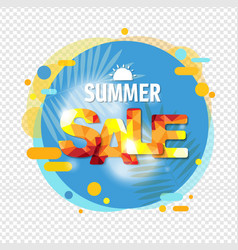 summer sale banner speech bubble isolated vector image