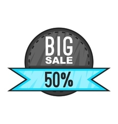 Super sale with 50 discount icon cartoon style vector image