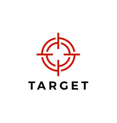 target sniper scope red logo icon vector image