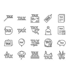 taxes icon set vector image