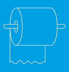 Toilet paper on holder icon outline style vector