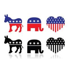 USA political parties symbols vector image