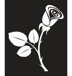 vector rose art illustration vector image