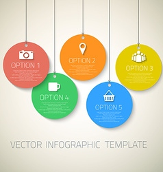 Web Infographic Round Badges Template Layout With vector