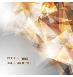 Brown geometric background vector image vector image