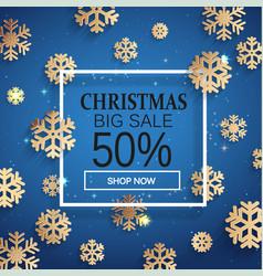 christmas sale card vector image