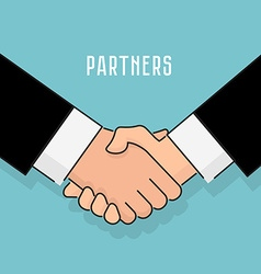 flat style Handshake businessman agreement vector image vector image