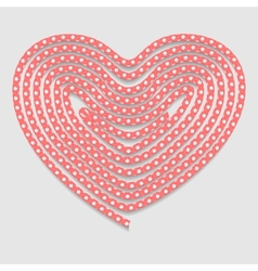 Heart of the folded rope Valentines day background vector image