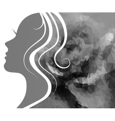 Profile of a beautiful young woman vector image vector image