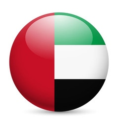 Round glossy icon of uae vector image