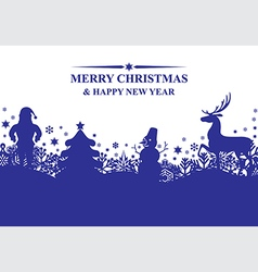 banner x mas vector image vector image