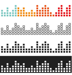 colored volume graphic equalizer vector image