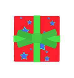 gift box present christmas ribbon surprise design vector image vector image