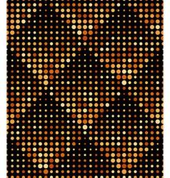 Halftone Rhombus Tiles Gold Metal Colors Seamless vector image