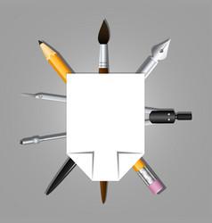 Heraldry schools and arts organizations graphic vector