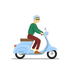Moped Flat vector image