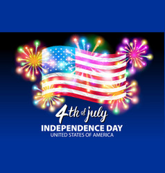 A celebrating independence day poster 4th vector
