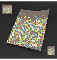 A4 business blank Abstract background with color vector image vector image