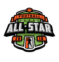 all stars of football logo emblem vector image vector image