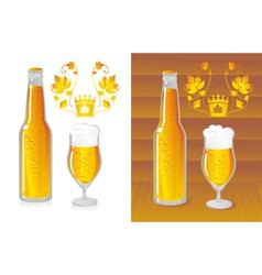 bottled beer vector image vector image