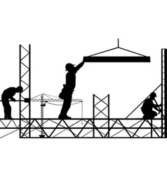 men working vector image