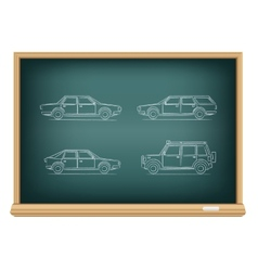board types of cars vector image vector image